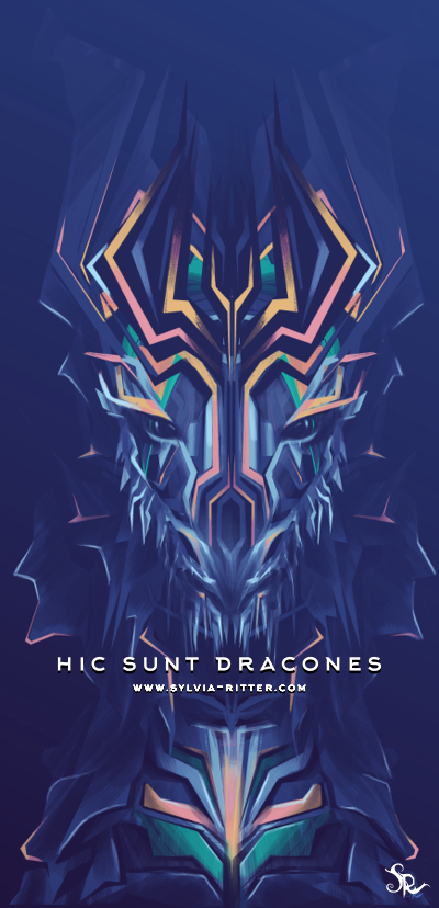 hic sunt dracones - Signed Giclée Print