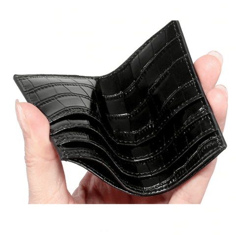 Black Croc Card Holder