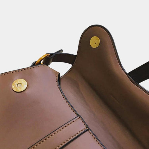 Saddle Flap Limited Bag Brown