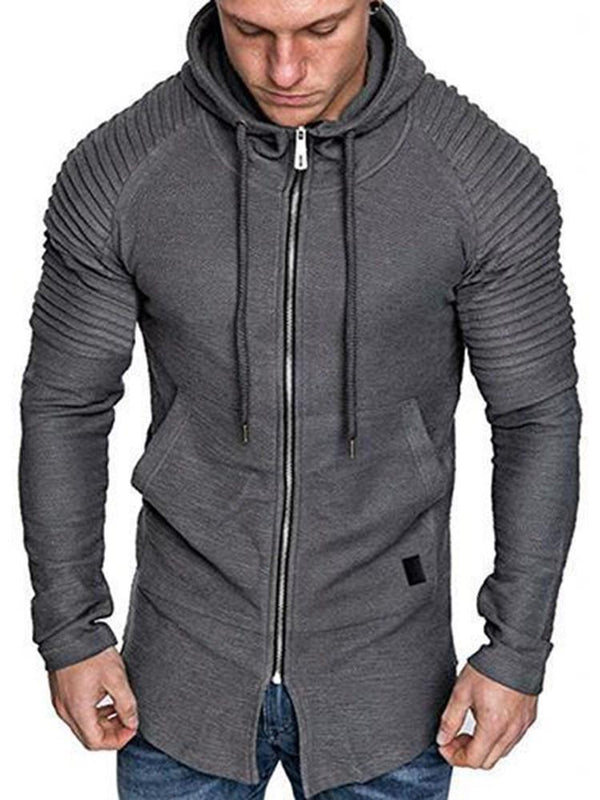Cardigan Regular Zipper Slim Fall Hoodies