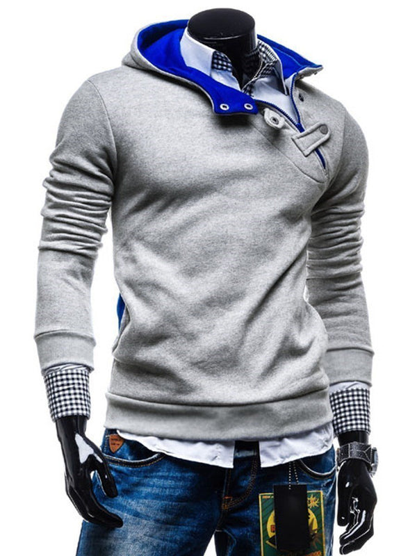 Pullover Asymmetric European Lapel Hoodies