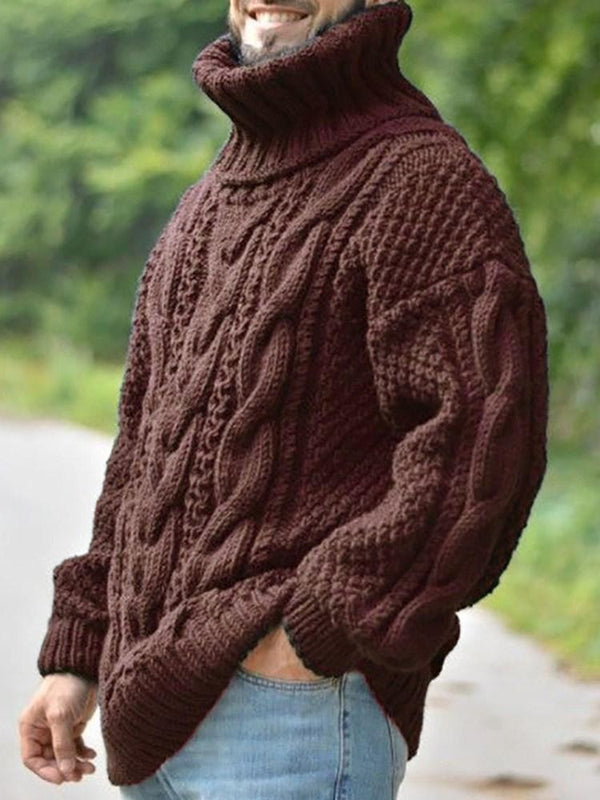Standard Turtleneck Plain Loose Fall Sweater