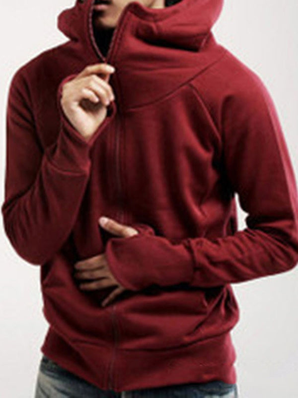 Cardigan Fleece Plain Fall Loose Hoodies
