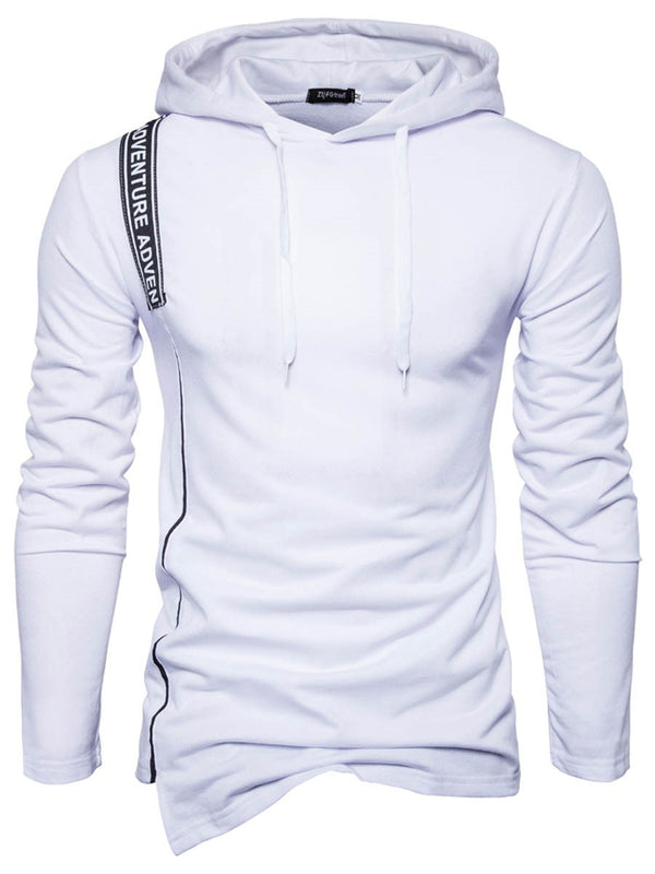 Plain Pullover Regular Hooded Slim Hoodies
