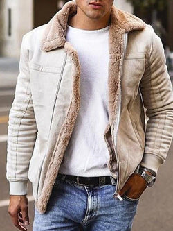 Patchwork Lapel Winter Casual Jacket