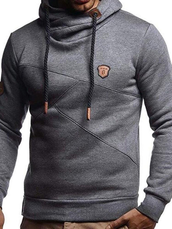 Pullover Lace-Up Slim Hooded Hoodies