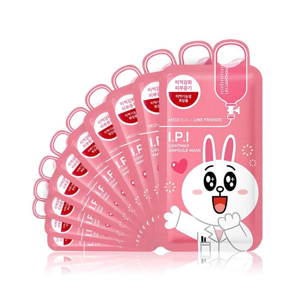 韩国 美迪惠尔 X LINE FRIENDS 可妮兔清澈透亮面膜 10pc 粉色 simple MEDIHEAL Default Title