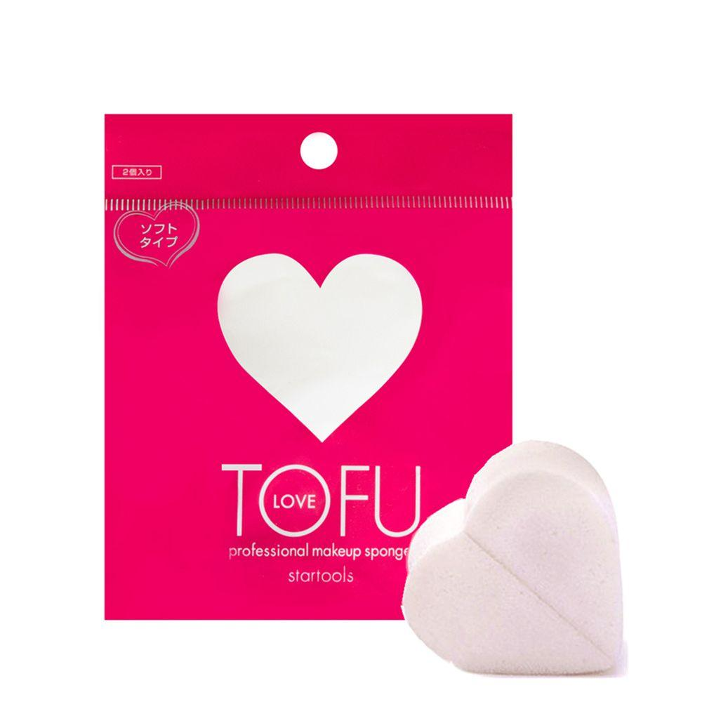 TOFU LOVE 心形化妆海绵粉扑 2枚入 simple TOFU LOVE Default Title