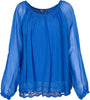 M Made in Italy - Layered Lace-Hem Blouse