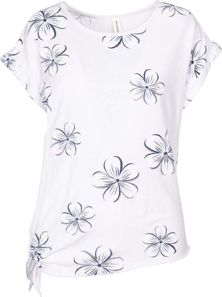 M Made in Italy - Floral Print Short Sleeve Top