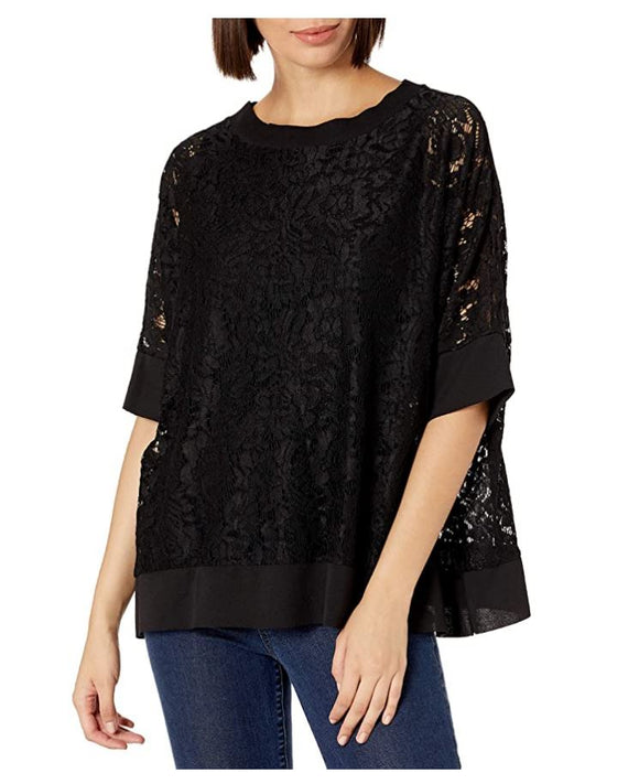 M Made in Italy - Floral Lace Swing Top