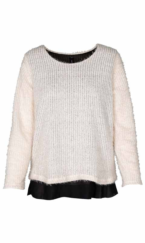 M Made in Italy Women's Layered Long Hair Sweater