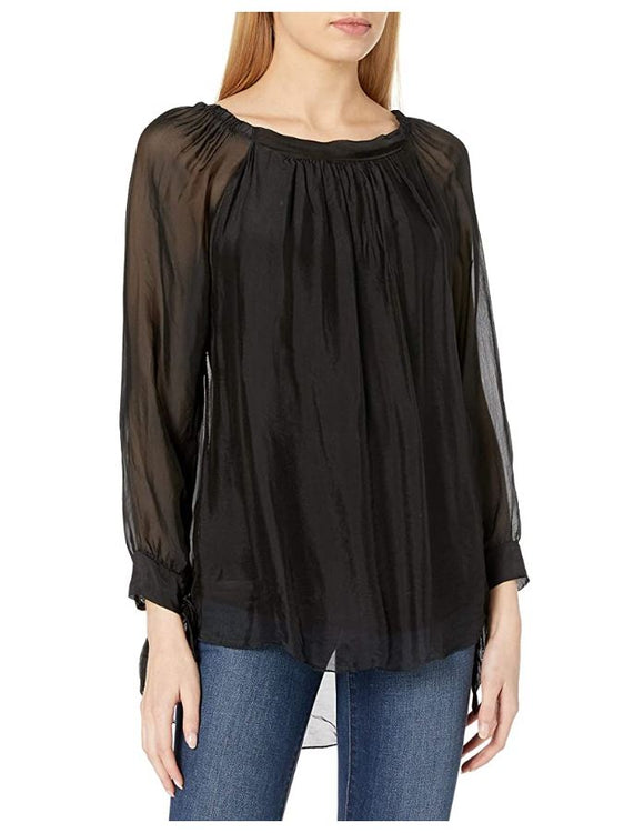 M Made in Italy - Silk Blouse with Long Sleeves