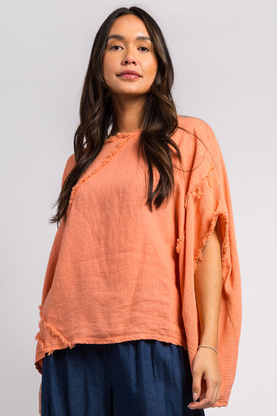 Ema&Carla - Frayed Accent Top
