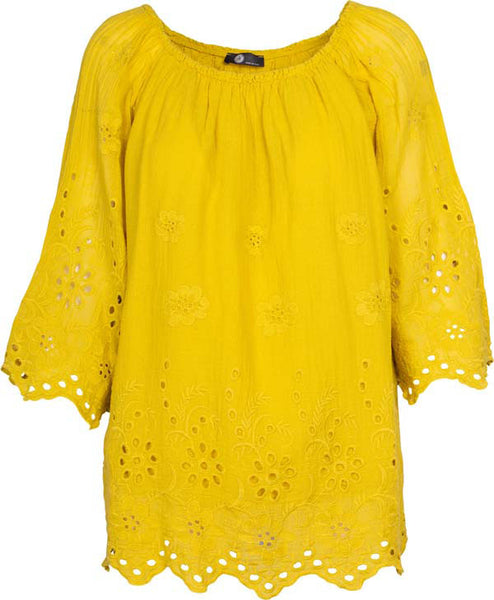 Women's Peasant Eyelet Blouse