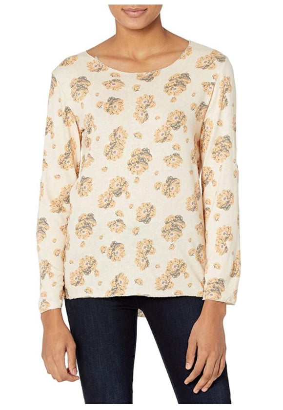 M Made in Italy - Floral Round Neck Top