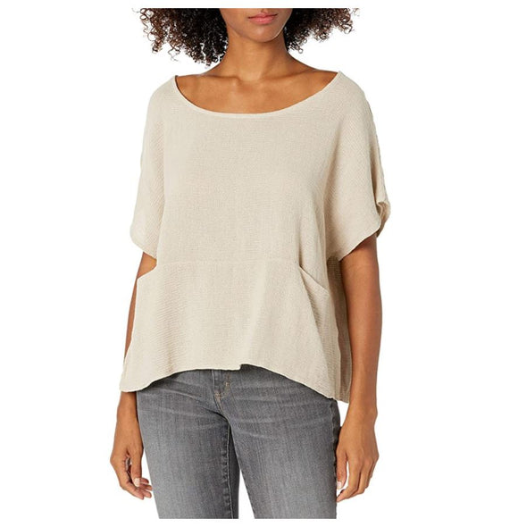 Open V-neck top with Front Pocket
