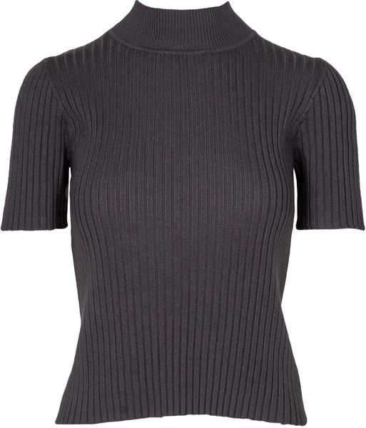M Made in Italy - Short Sleeve Mock Neck Sweater