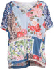 M Made in Italy - V-Neck Floral Shirt