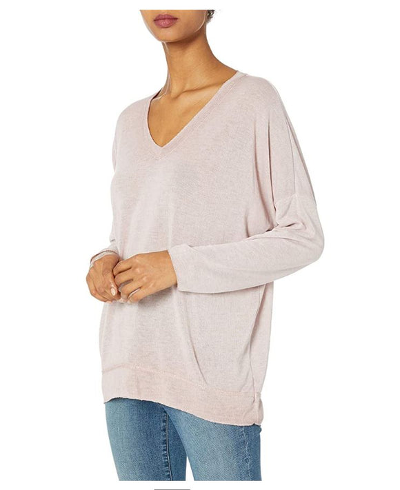 M Made in Italy - V-Neck Top with Shimmer Detail