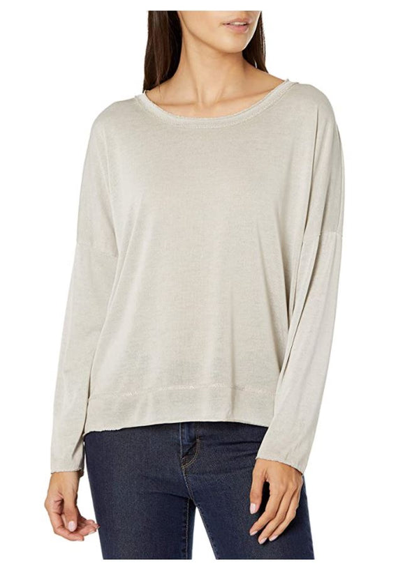 M Made in Italy - Long-Sleeve Scoop Neck Tee