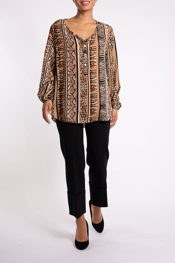 EMA&CARLA Animal Print Blouse