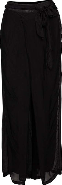 Women's Palazzo Pants with Self Tie Belt
