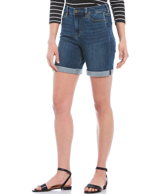 LIVERPOOL - Kristy High Waist Rolled Shorts