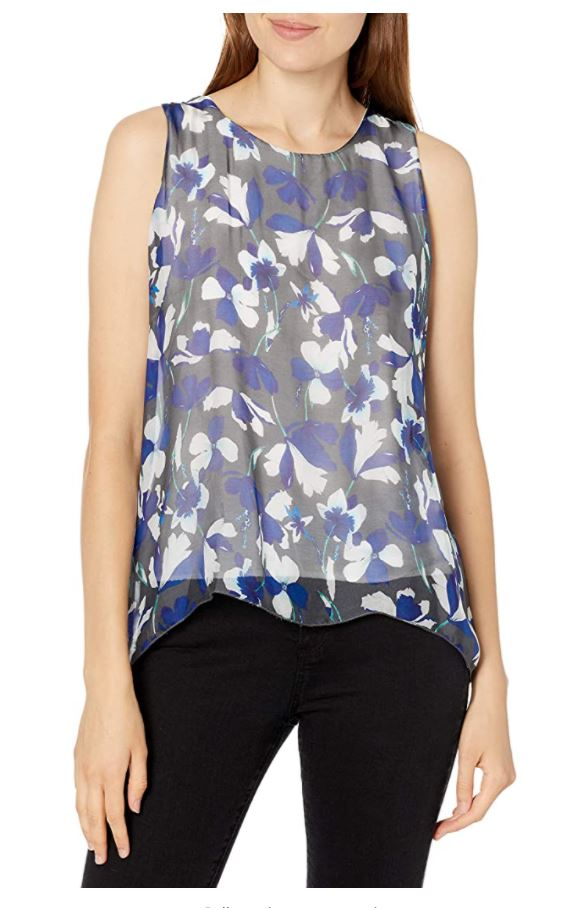 M Made in Italy - Sleeveless Floral Blouse