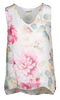M Made in Italy - Women's Floral Flowy Tunic Tank Top