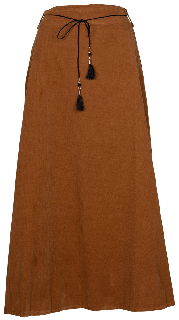 M Made in Italy Maxi Corduroy Skirt