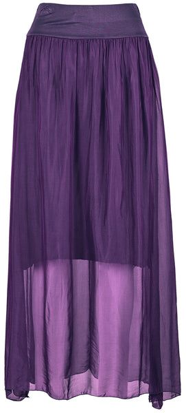 M Made in Italy - Silk-Blend Maxi Skirt