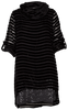 M Made in Italy - Sheer Striped Dress with Sequin Hem