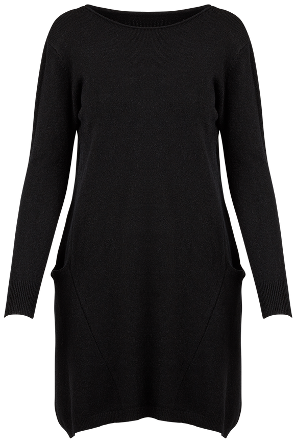 M Made in Italy - Knit Pocket Shift Dress