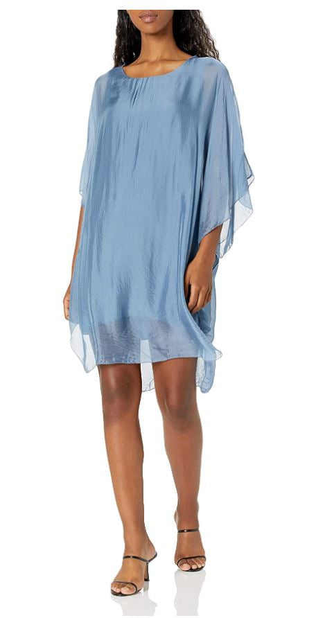 M Made in Italy - Poncho Style Tunic Dress
