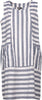 M Made in Italy - Sleeveless Round Neck Striped Dress