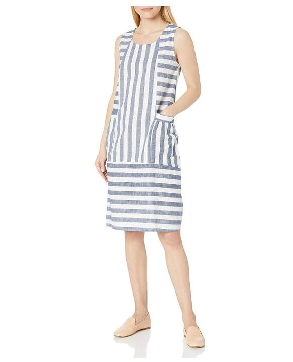 M Made in Italy - Sleeveless Striped Dress