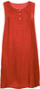 Sleeveless Front Button Dress Plus Size