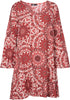 M Made in Italy - Allover Printed Shift Dress