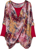 M Made in Italy - Floral Crisscross-Front Tunic