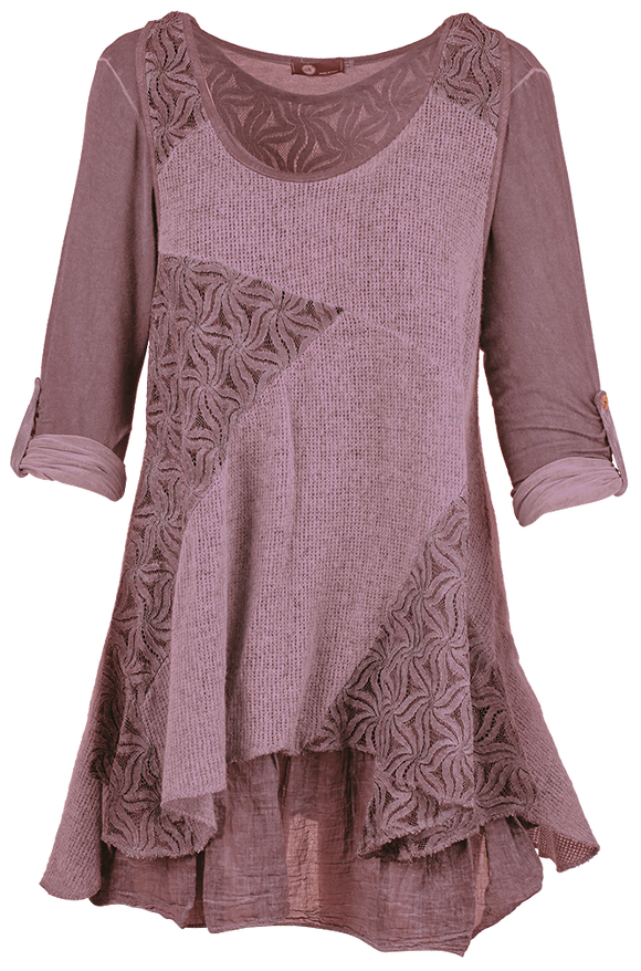 Knitted Tunic with Lace Details