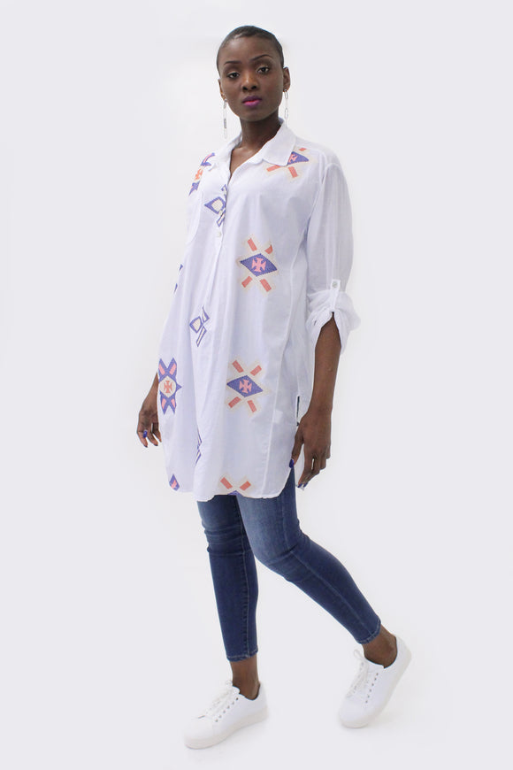 Ema&Carla - Aztec Embroidered Shirt