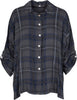 M Made in Italy - Plaid Button Down Shirt with Roll-tab Sleeves