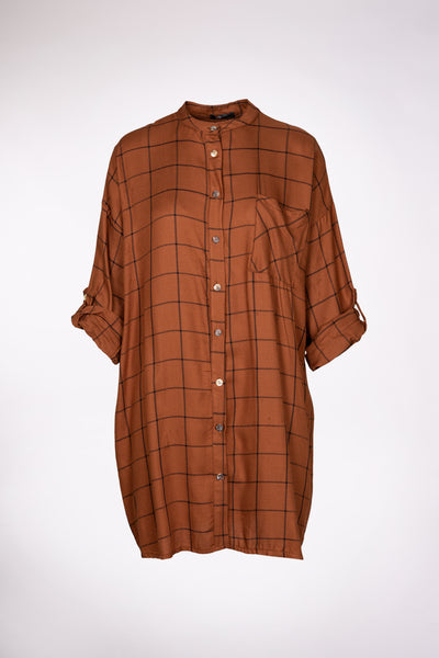 M Made in Italy Woven Long Sleeve Shirt