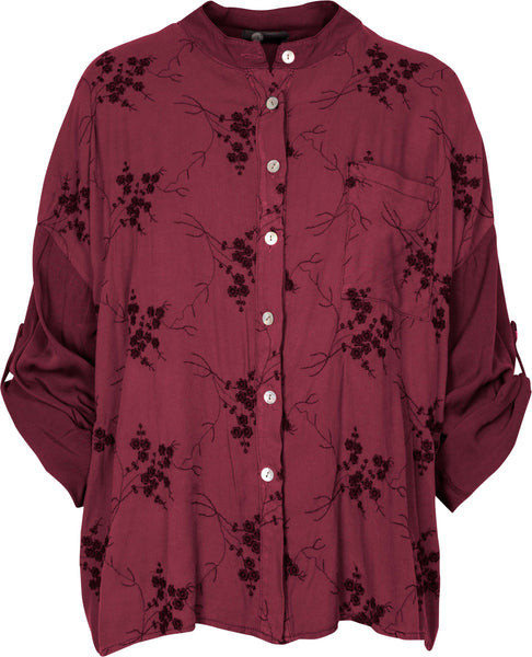M Made in Italy - Closed Round Neck Floral Shirt