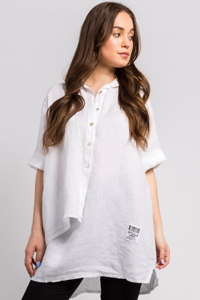 Ema&Carla - 3/4-Sleeve Hi-Low Button Up