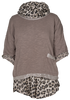 M Made in Italy Animal Print Sweater/Blouse