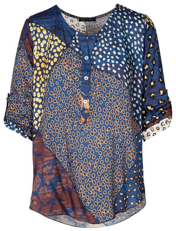M Made in Italy - All-Over-Print Blouse
