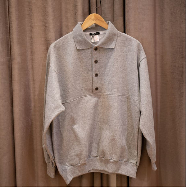 Wing-Collar Button Pullover