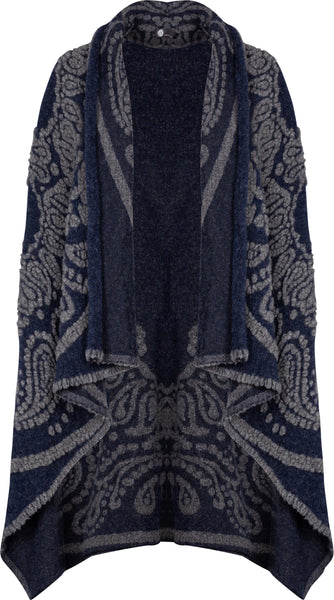 M Made in Italy - Embroidered Vest with Shawl Collar